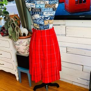 Vintage wool Burberry A line skirt